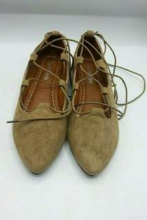 Suede Shoes beige