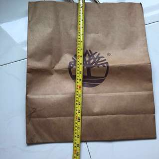 Timberland paper bags -2 to go