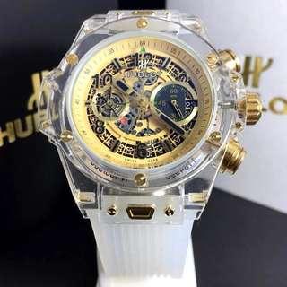 Jam tangan pria hublot automatic