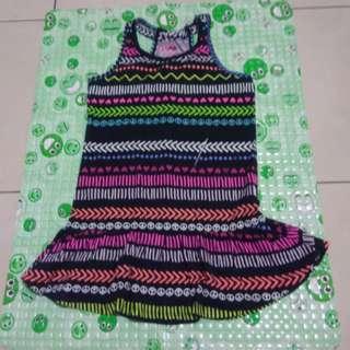 Dress hitam corak tribal