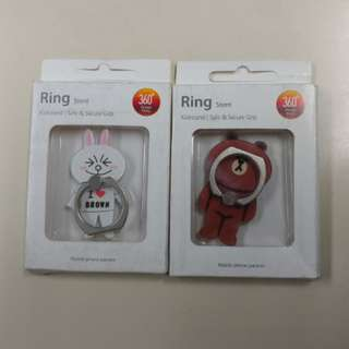 Line Cony Brown 蛋黃哥 招財貓 Ring Stent(iRing)Mobile phone holder