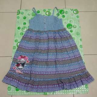 Dress tribal biru Sanrio size 130