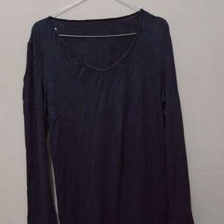 Purple Basic Long Shirt