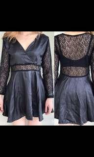 Dress brukat hitam