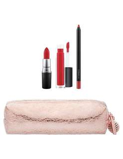 MAC Snowball Lip Bag Red