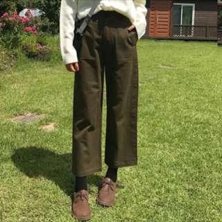 工裝寬鬆直筒褲(2色)