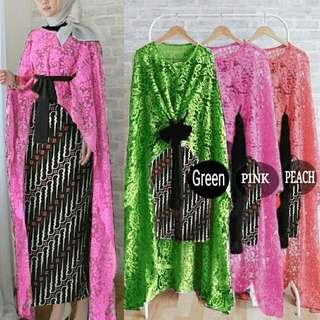set long cape outer - set kebaya