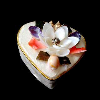 Seashell Lotus Trinket Box