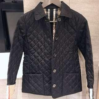 💕Burberry children quilted nova black jacket size 12