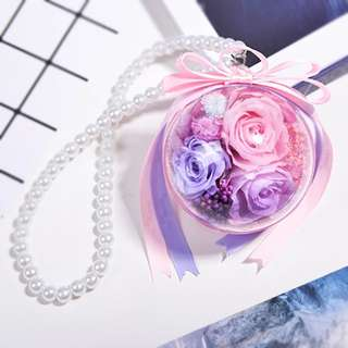Eternity Flower Keychain/ Car Hanger Decoration