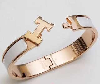 AUTHENTIC HERMES Clic Clac H Bracelet GM Size