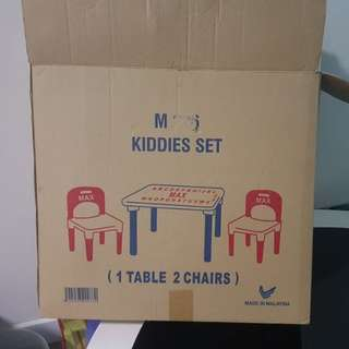 Kiddies set kerusi dan meja