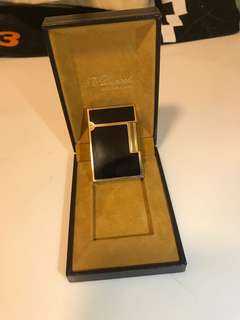 ST Dupont Lighter black gold btc xrp eth
