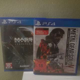Mass effect andromeda & MGS V Definitive for sale/swap