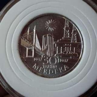 Coins $10 (silver) sempena 30th merdeka utk di jual