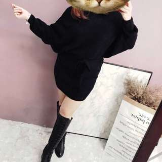 針織長版裙