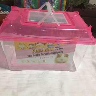 Pets box cage small animal hamster tortoise fish enclosure pink