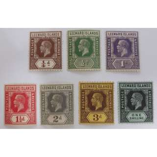 Leeward Islands king George V 1912-22 Definitive Stamp (Part Set)  MH