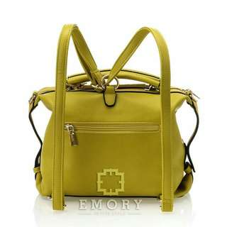E M O R Y   Joyluck. Series   01EMO1445 (3095). Measurement  Base 27  cm. Height 26 cm. Weight    1.028 KG. Material  Faux Togo leather.  ORIGINAL BRAND.