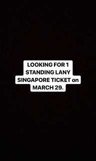 1 LANY standing SINGAPORE