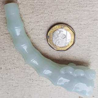 Certified Type A Jadeite Display Grade A Myanmar 100% Natural Green Jade Pixiu Smoking Pipe 貔貅烟斗
