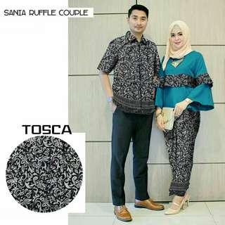 couple ruffle batik