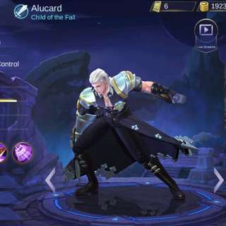 Mobile legend account with epic skin alucard