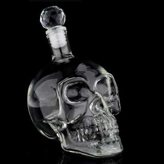 🌟 In-stocks! Limited Edition 1 litre Gothic Skull glass bottle