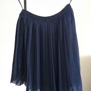 Blue flitted skirt