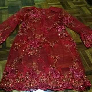 Baju Kurung Moden kain lace