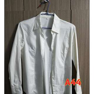 【A44】簡約白襯衫