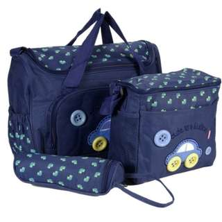 ❤ Baby Diaper Bag / Mommy Nursing Shoulder Bag ( Car - Navy Blue)