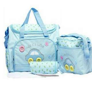 ❤ Baby Diaper Bag / Mommy Nursing Shoulder Bag ( Car - LightBlue)