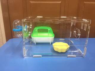 Instock New 25cm Acrylic Hamster Cage