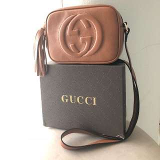 Gucci Soho Brown Camel Leather Disco Shoulder Bag