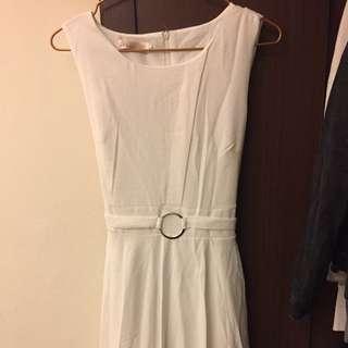 韓版氣質白色洋裝禮服
