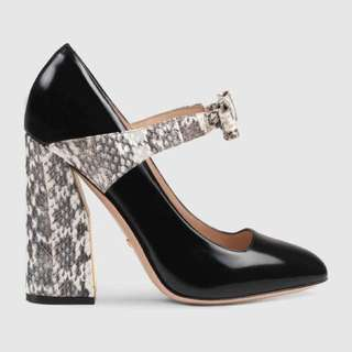 Gucci Snakeskin Pumps