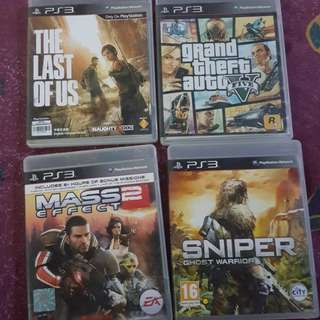 PS3 Games GTA5/ Last of us/ sniper /Mass effect