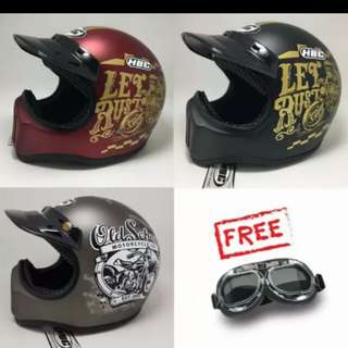 Helm cakil HBC with goggles