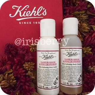 BN Kiehl's Aromatic Blends: Nashi Blossom & Pink Grapefruit Shower Gel & Hand Body Lotion
