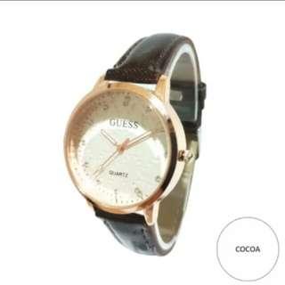 Jam tangan wanita Guess Kulit