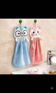 可爱加厚挂式擦手巾 超强吸水洗碗毛巾抹布卡通擦手布