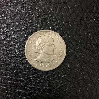美國 1979年 蘇珊安東尼 錢幣 一枚