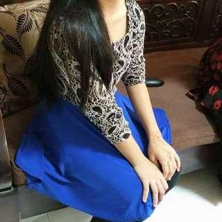 Peplum top babydoll blouse