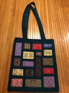 Embroidery Bag from Myanmar (11 inches x 12.5 inches)