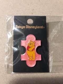 日本 迪士尼徽章 DISNEY PIN  Pooh  砌圖