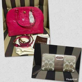 Authentic Coach Bag and Authentic Coach Wallet