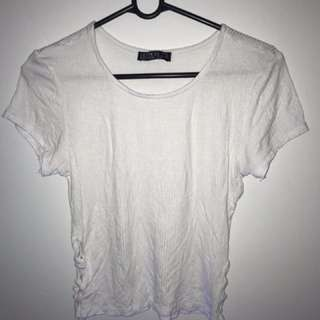 Cotton On White Shirt Crop Top
