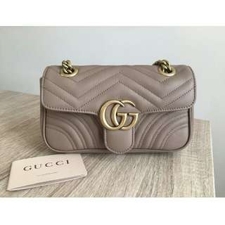 Authentic Gucci Marmont Matelasse Small