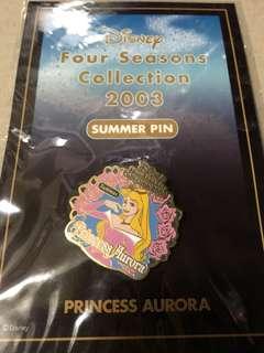 日本 迪士尼 徽章 TOKYO DISNEY PIN Four Seasons Collection 2003 Summer  Auror)